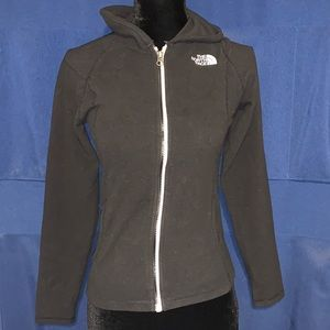 Girls Black North Face Zip Up Jacket